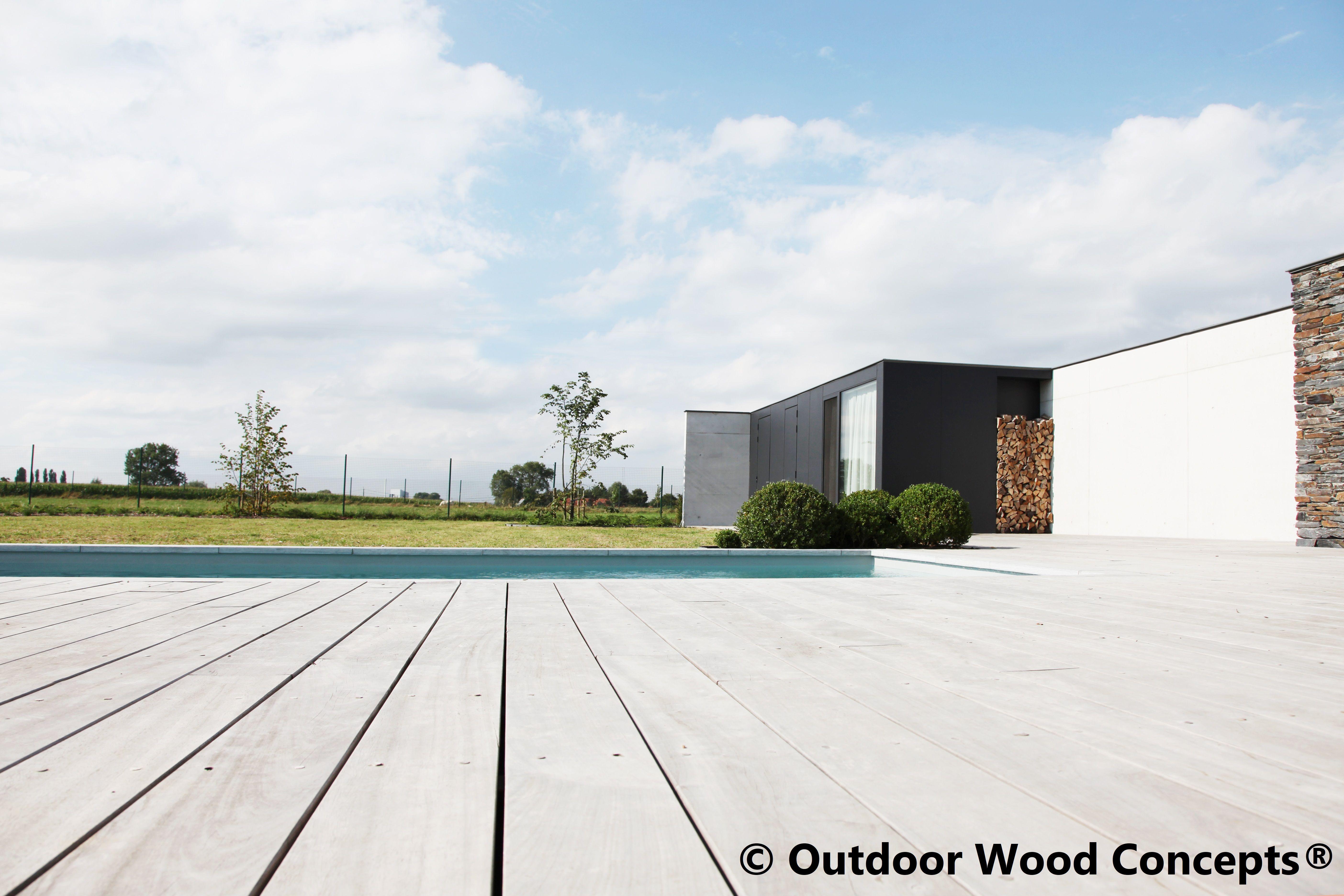 Terras in hardhout hout wood bois terras terrasse terrace design