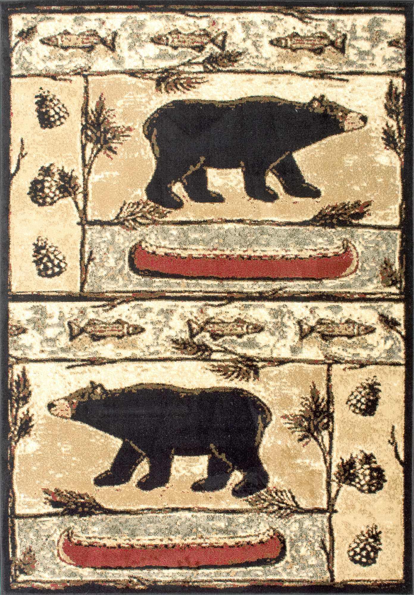 eb4d56e620d This rug give us memories of winter and cabins! This is Rugs USA s Yosemite  YS01 Bears In The Woods Lodge Rug!