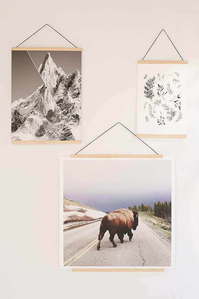 Wooden Print Dowel Hanger In 2019 Love It Hanging Posters