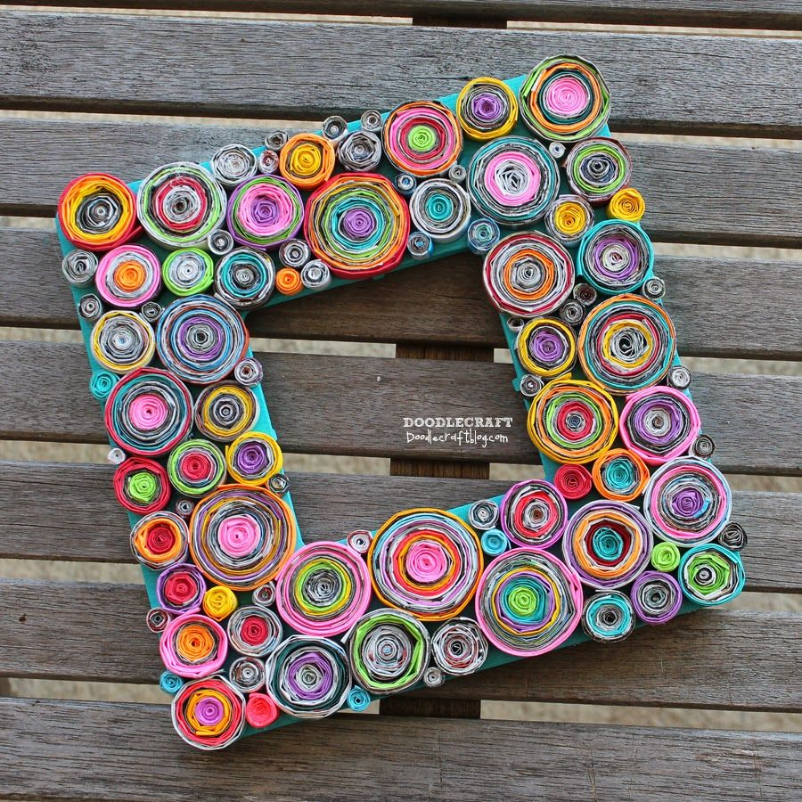 15 ways to upcycle old magazines rolled paper paper frames and 15 ways to upcycle old magazines jeuxipadfo Images