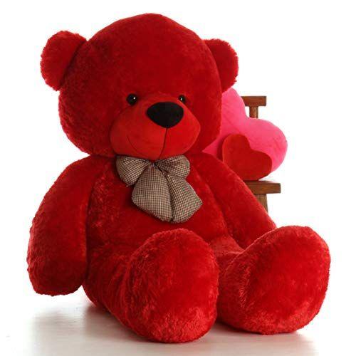 Giant Teddy Brand 6 Foot Life Size Ruby Red Big Plush Teddy Bear Bitsy Cuddles #teddybear