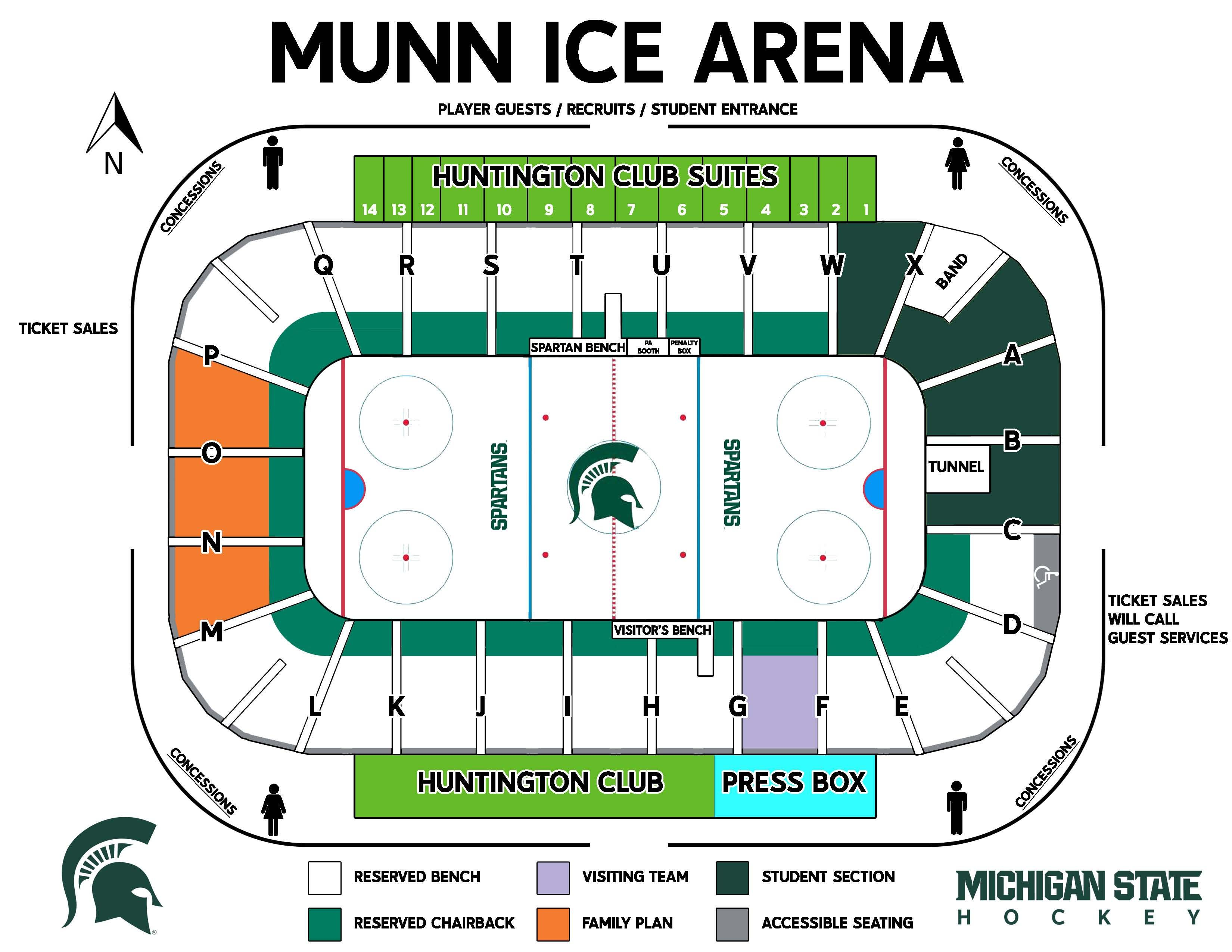 2012 13 Munn Arena For Spartan Hockey Michigan State College