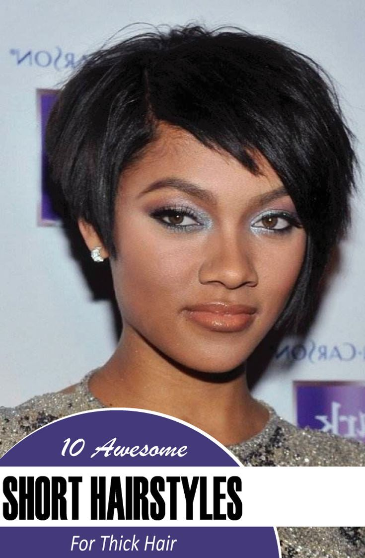 black short hairstyles for thick hair thicker hair short