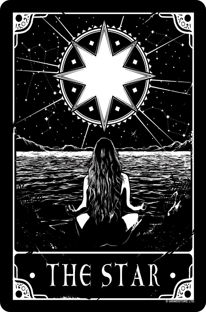 Deadly Tarot The Star Greet Tin Card The Moon Tarot Card Star Tarot Tarot Card Tattoo