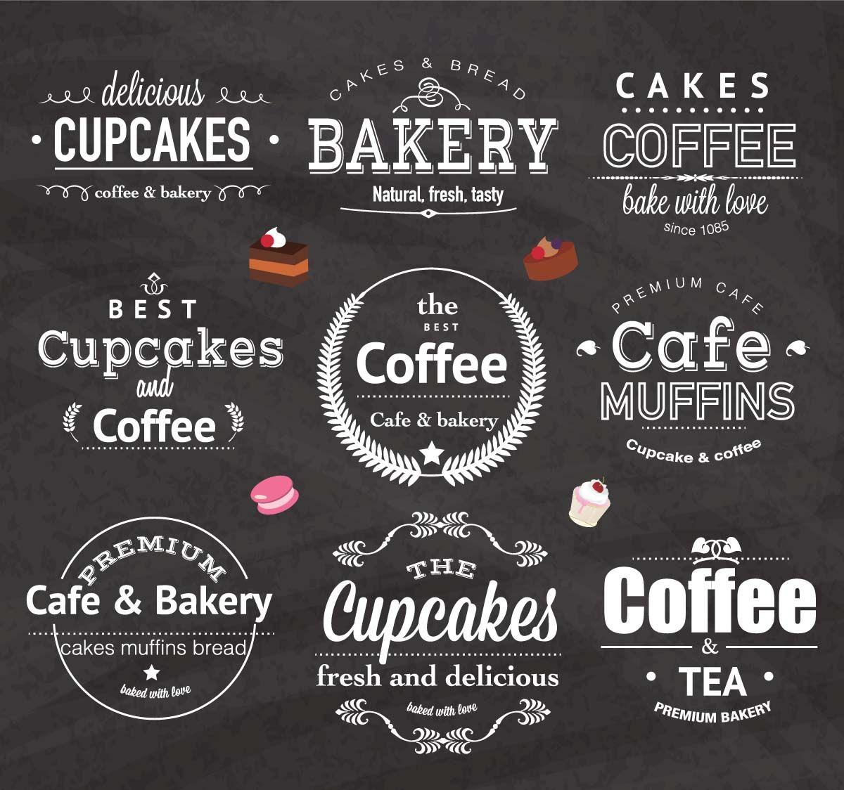Vintage Bakery Cafe Logo Design Set Vector Cgispread Cafe Logo Cafe Logo Design Vintage Bakery