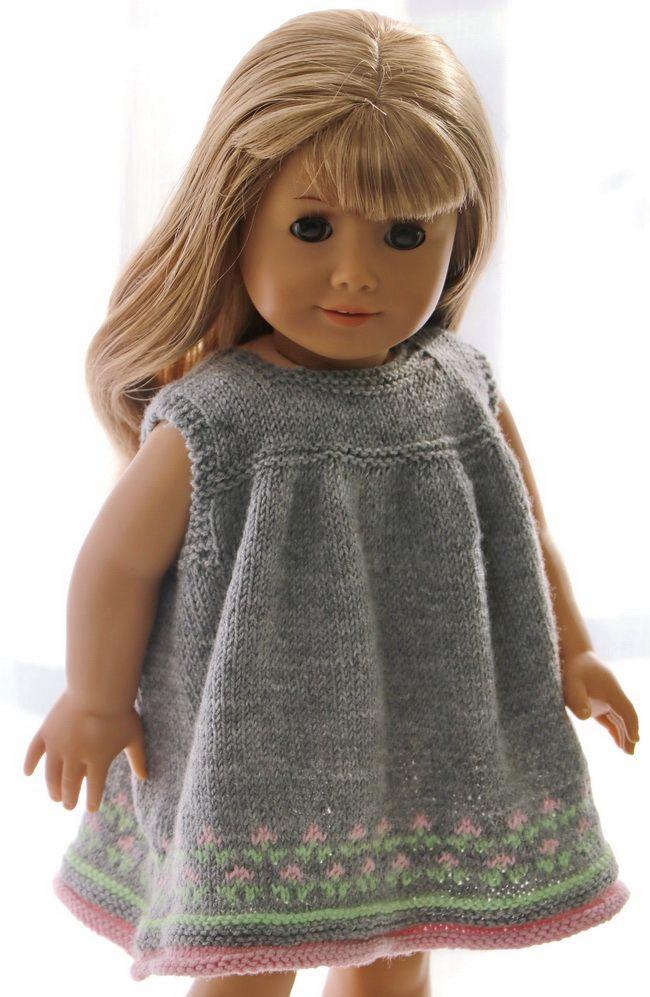 Patroon poppenkleding - Elegante zomerjurk voor gelukkige heldere ...