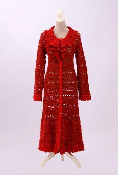 7 Lujosos Abrigos de Crochet de Entretiempo | Allethea Mattos, Luxury Crochet.