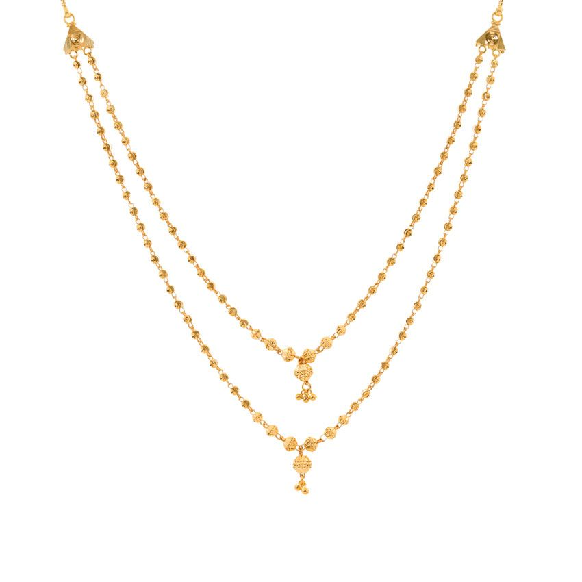 Indian Simple Gold Necklace Designs Hina Beaded Gold Neckl...