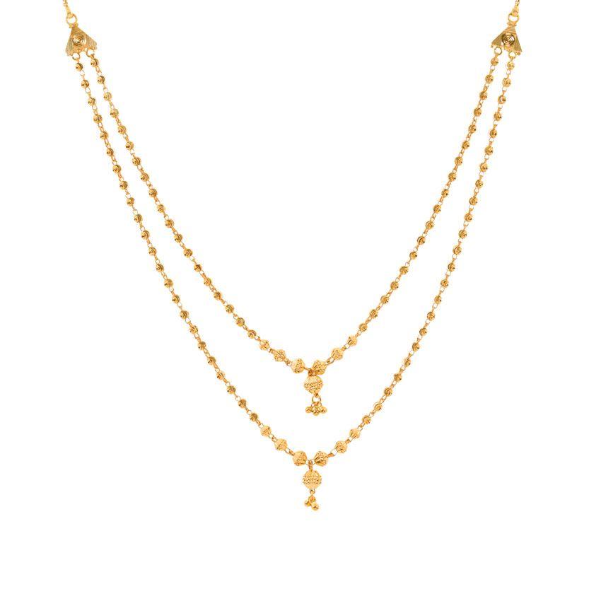 Hina Beaded Gold Necklace India Online - CaratLane.com | Gold ...