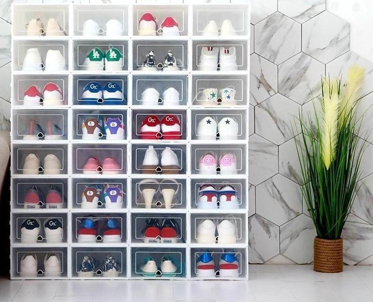 80 Off Today 2019 New Drawer Type Shoe Box Fournano Com In 2020 Stacking Storage Boxes Shoe Box Organizer Shoe Box