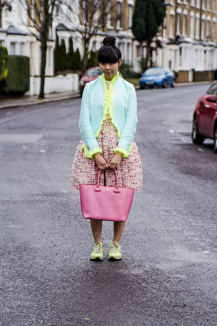 Susie Bubble in the XOXO Dress in Mixed Messages