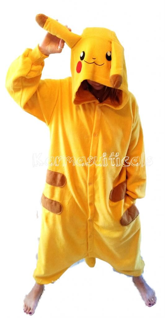 Details About New Pikachu Adult Teen Onesie All In One Sleepsuit