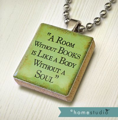 Book soul pendant jewelry from a scrabble tile necklace scrabble book soul pendant jewelry from a scrabble tile necklace scrabble piece home studio aloadofball Choice Image