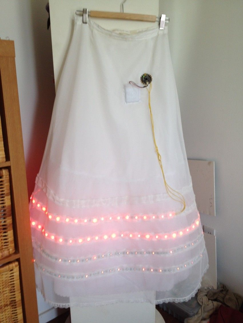 An Led Dress That Is A Tribute To The Hunger Games Future Fashion Lighting Circuitsled Pcb Boardalumimun Buy Leslie Birch Of Adafruit Was Recently Nominated For Geek Year In Philadelphia And Figured She Needed Outfit Woo Tech Savvy Crowd At