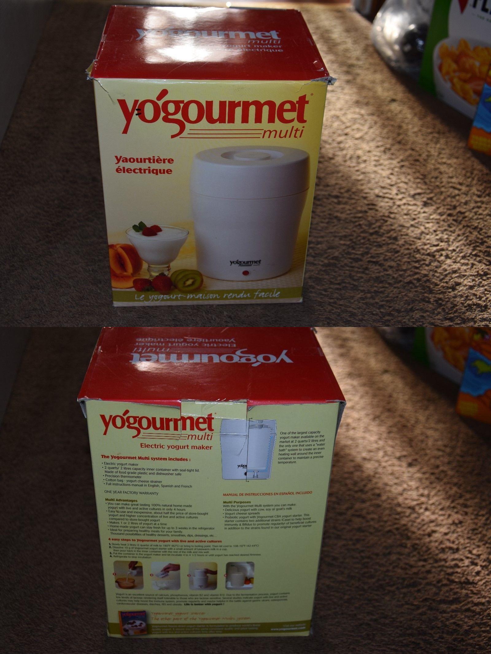 Yogurt Makers 122933 New Yogourmet Multi Electric Maker 2 Qt White