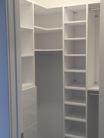 Corner Shelves With Drawers By Modular Closets