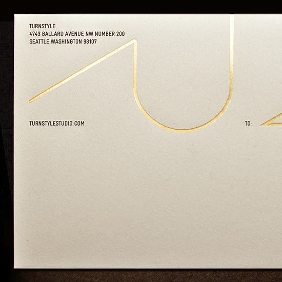 Gorgeous Gold Foil Stationery by Turnstyle
