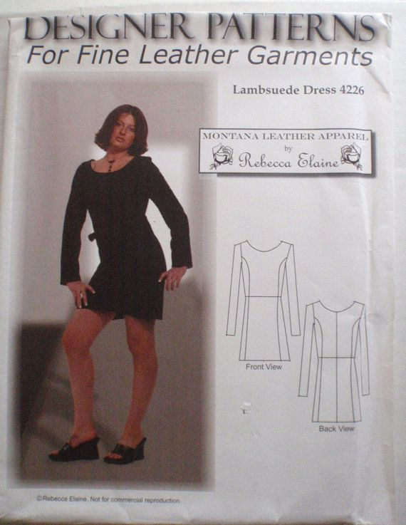 Independent Sewing Pattern - Lambsuede Dress - Montana Leather ...