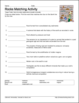 8 Worksheets For Learning Geology Terms Science Worksheets Earth Science Lessons Middle School Science Experiments
