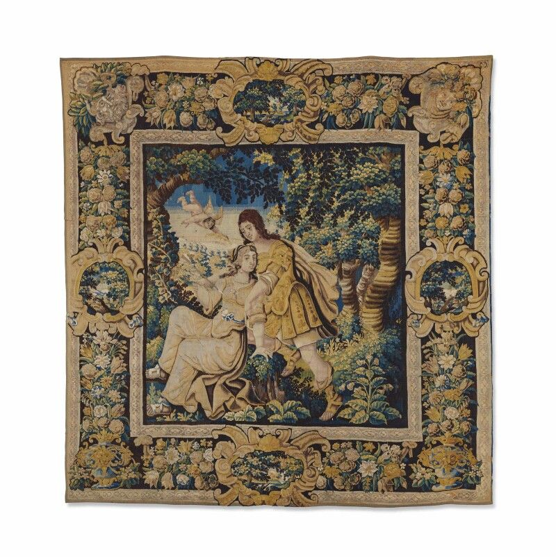 BAROQUE TIME TAPESTRY PROBABLY PARIS, MIDDLE EIGHTEEN ...