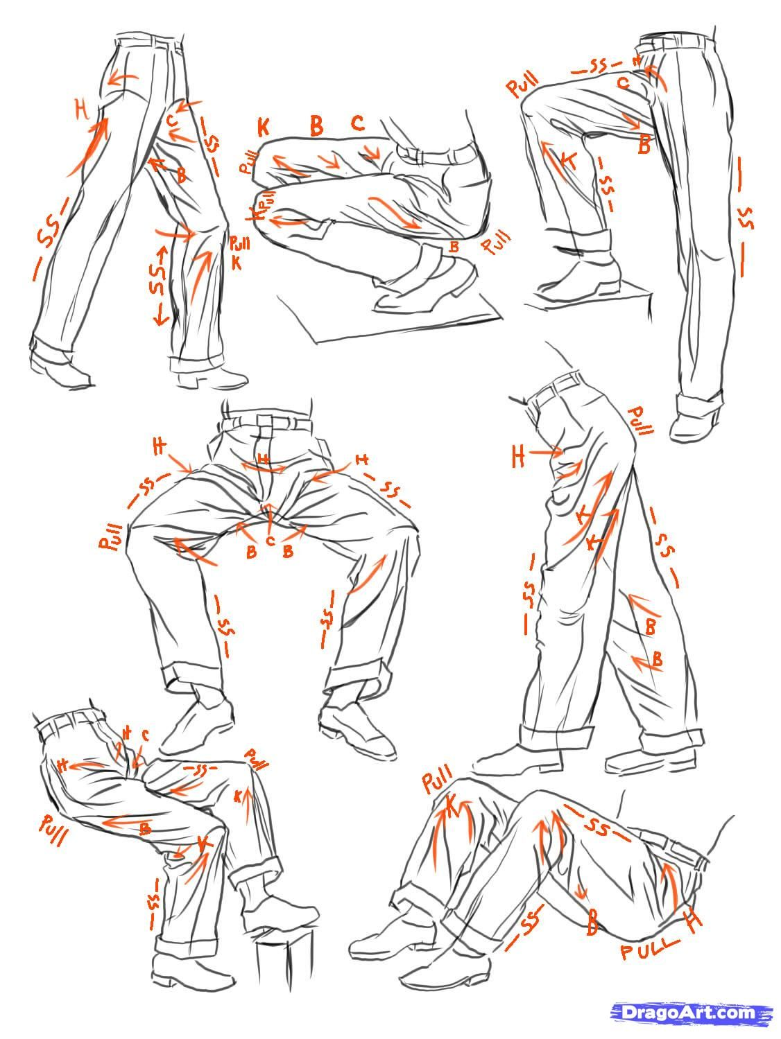 How To Sketch Anime Clothes, Step By Step, Anime People, Anime, Draw