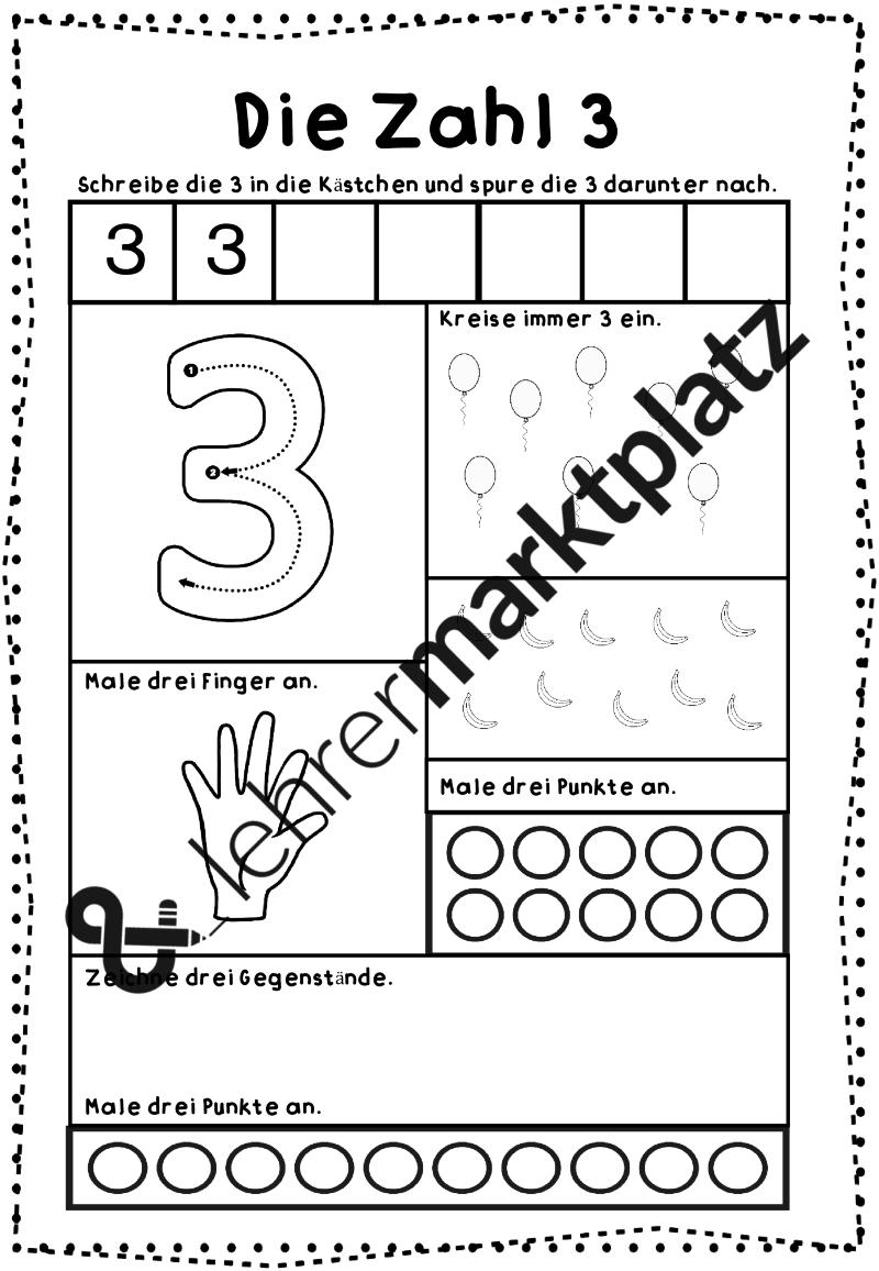 ZR 20 - Mengen & Zahlen - Arbeitsblätter – Mathematik | Pinterest