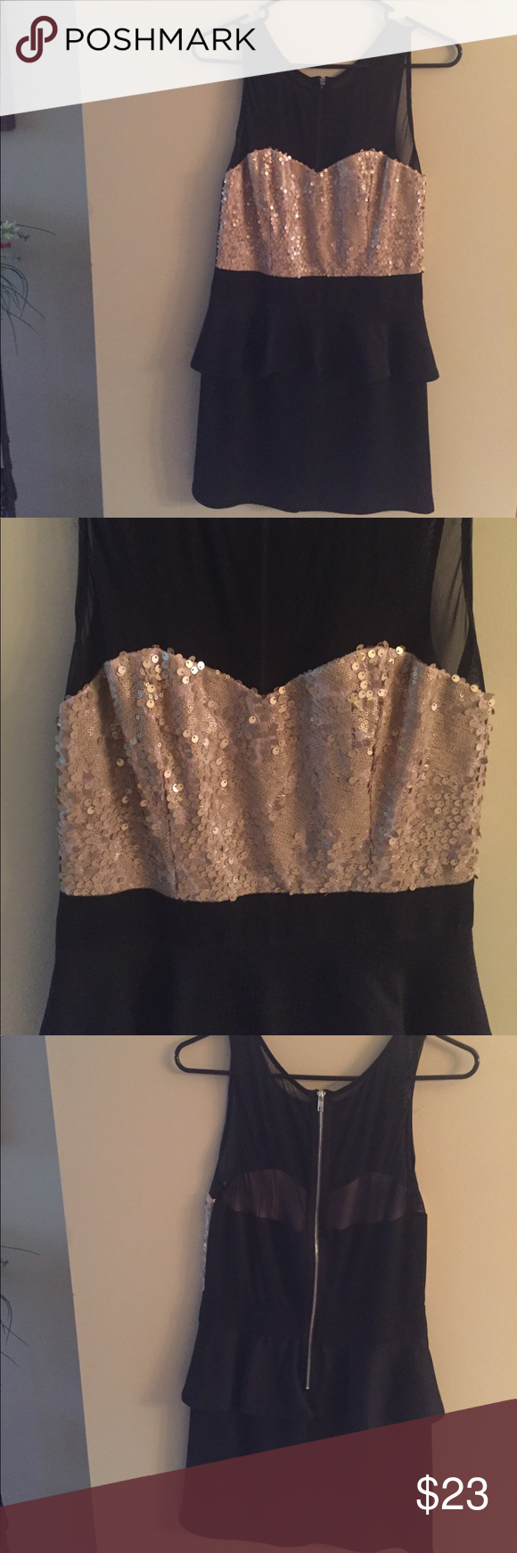 Black and gold dress so cute Black and gold cute for a wedding or party Speechless Dresses Mini