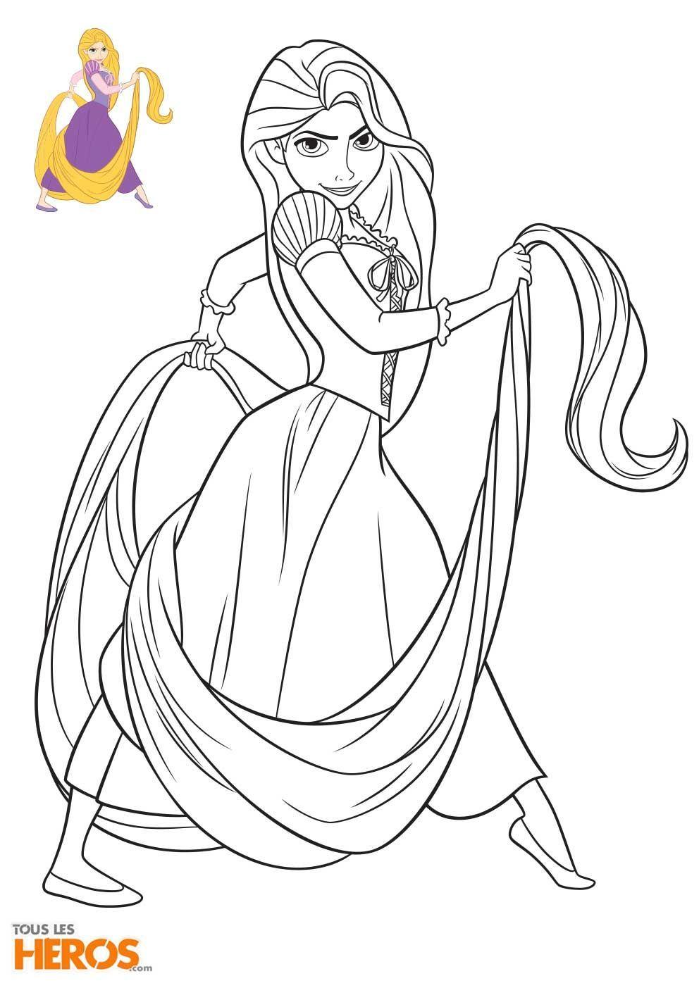 Coloriage Princesses Disney Raiponce  Princess coloring pages