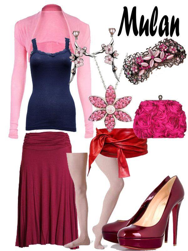 Disney Fashion: Mulan (Match-maker Dress) by EvilMay.deviantart.com on @deviantART