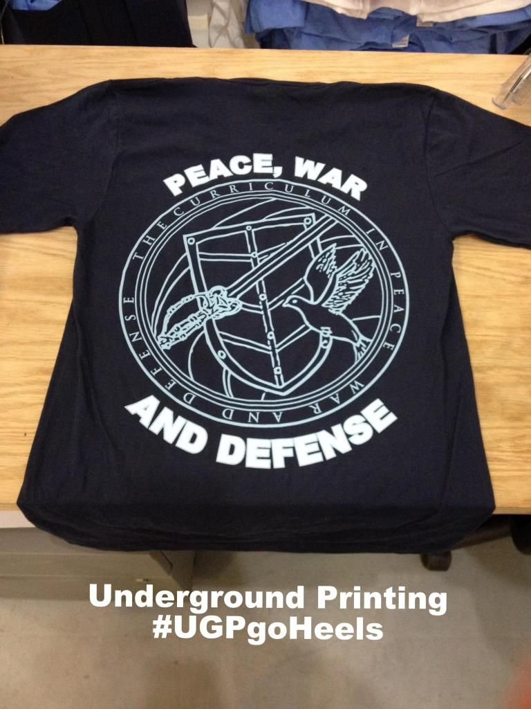7d3a7cd8 UNC PWAD shirts! Printed on a 20010 Navy American Apparel Fine ...