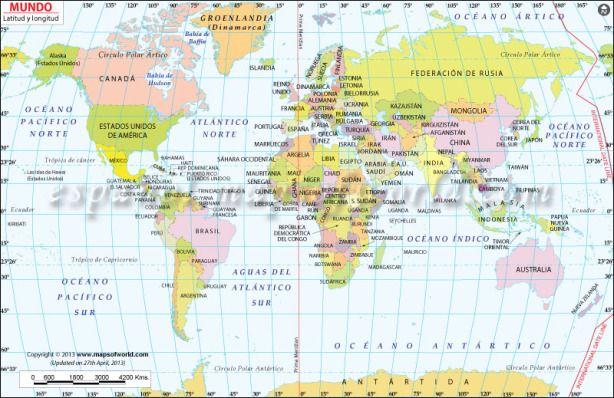 mapa-del-mundo-con-latitud-y-longitudjpg (614×398) longitud y - best of world map with countries and continents