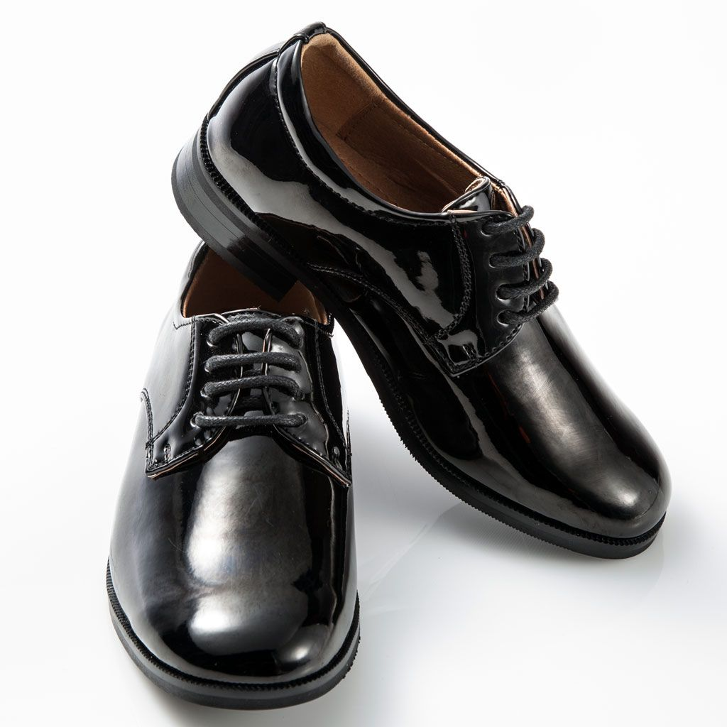 Shiny Patent Leather Shoes Round Toe