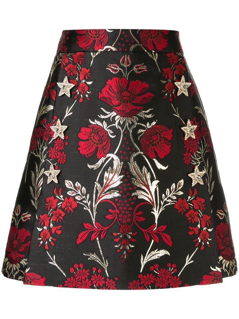 Dolce & Gabbana Jacquard Mini Skirt - Farfetch #flaredskirt
