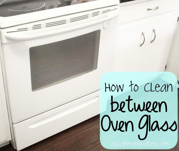 Scrub that hard-to-reach-spot in between your oven glass using this tip.