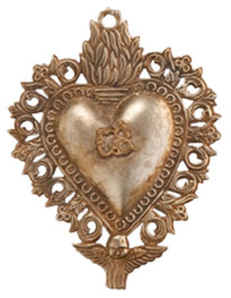 wisteria sacred heart ornament