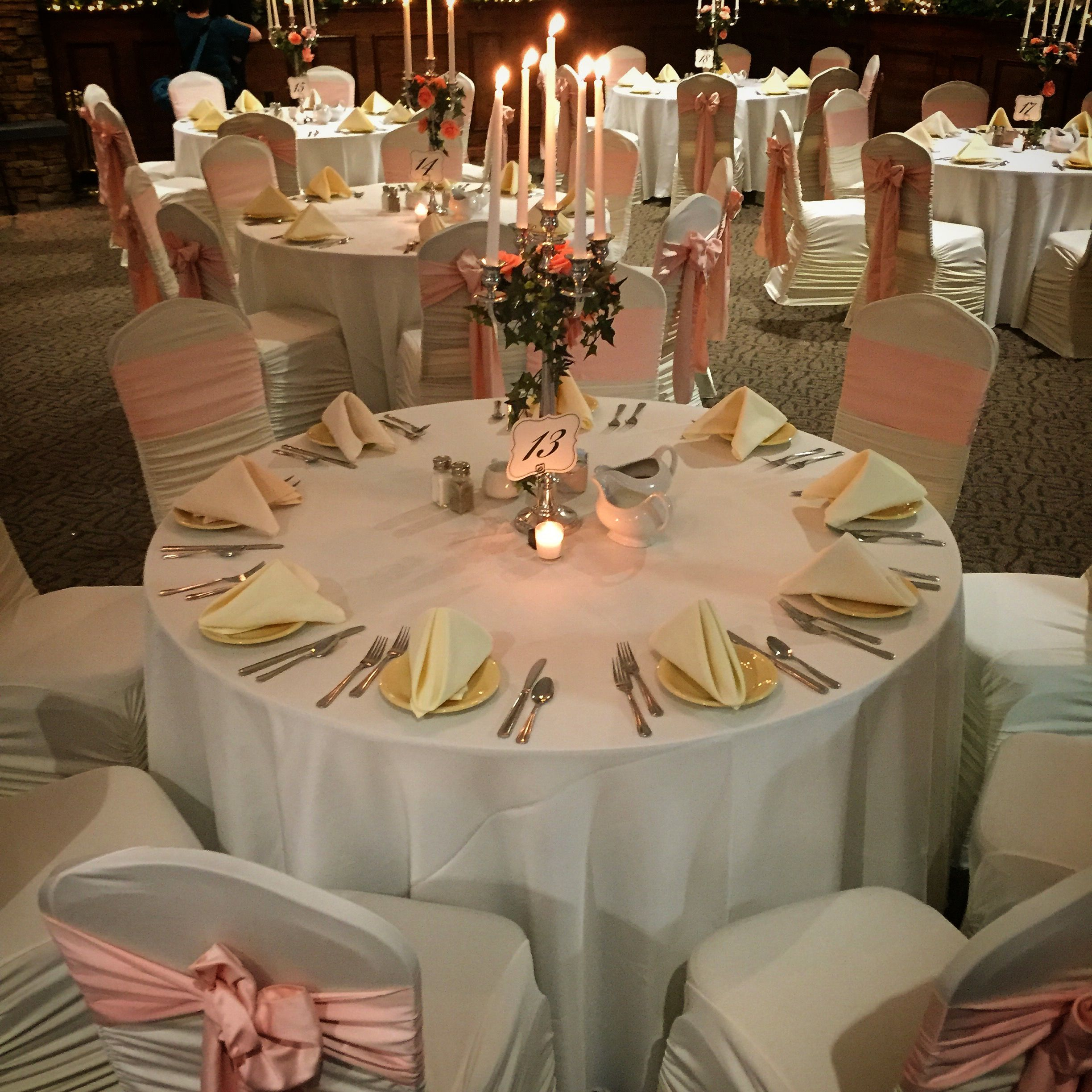 Beautiful Table Set For The Weir Massie Ceremony