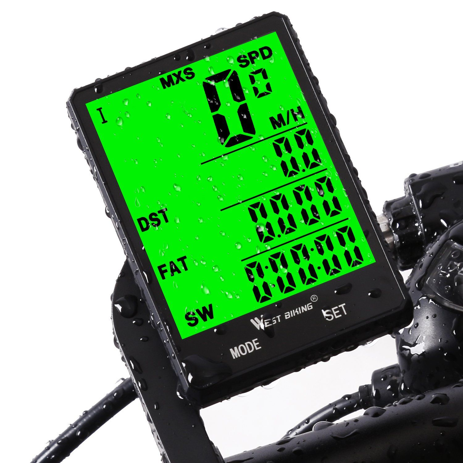 Bike Speedometer Waterproof Wireless Bicycle Computer and Odometer with Wake-up