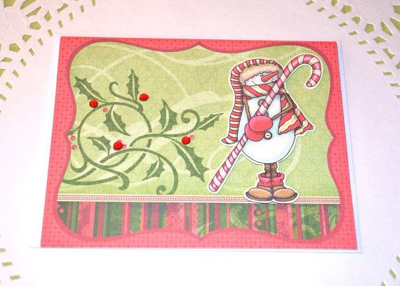 Christmas Card Merry Christmas Holiday Card by DabbleBabbleDesigns