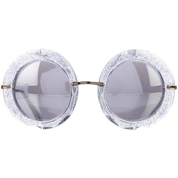 a86c3593b31 Pre-owned Dolce   Gabbana 2017 Glitter Round Sunglasses ( 225) ❤ liked on