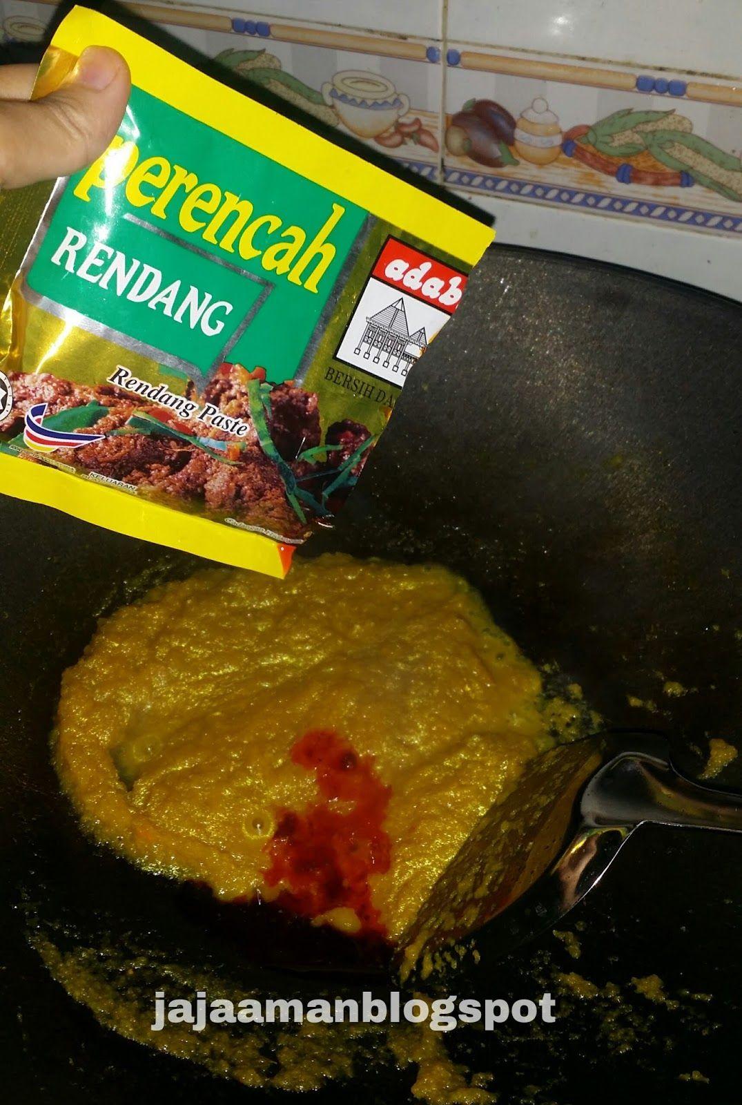 Resepi Rendang Ayam Adabi Perencah Adabi With Images Food