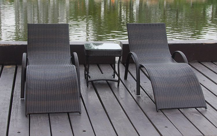 Rattan Spa Lounger Chairs Google Search Garden