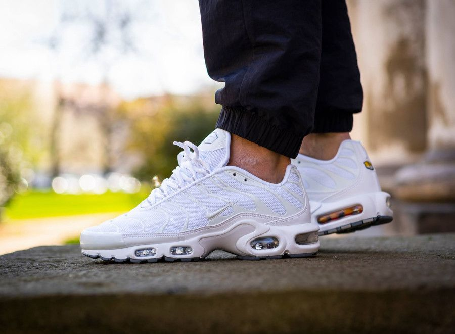 available discount sale official images Nike Air Max Plus blanche Triple White (2019) | Nike air max plus ...