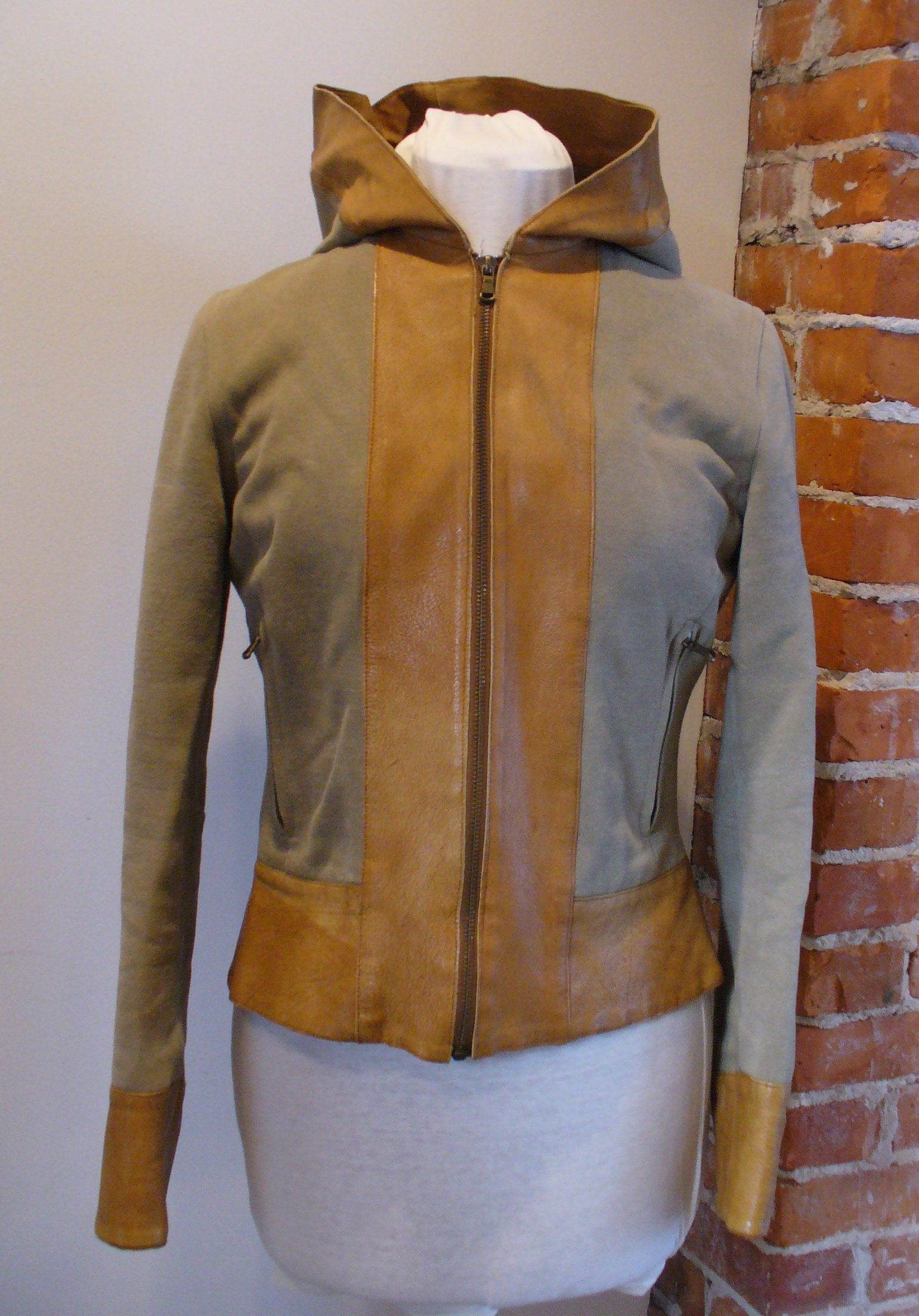 Tenex Y Valades Made in Italy Fabric &Leather Hooded