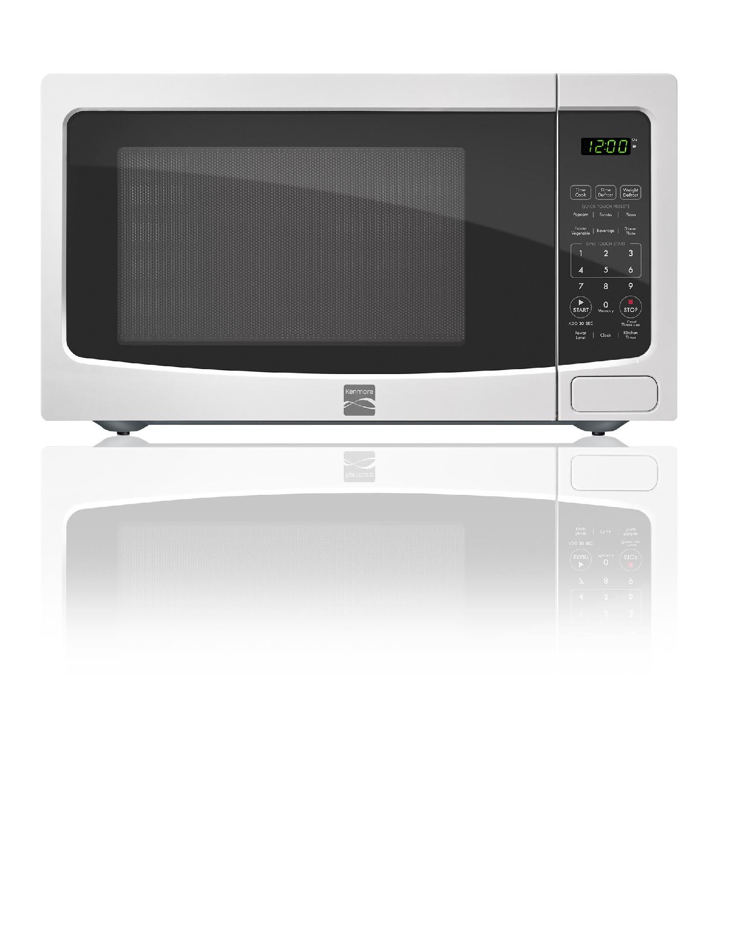 Kenmore 1 1 Cu Ft Countertop Microwave White 73114