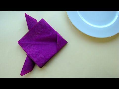 Pliage De Serviette En Papier Poisson Facile Et Rapide