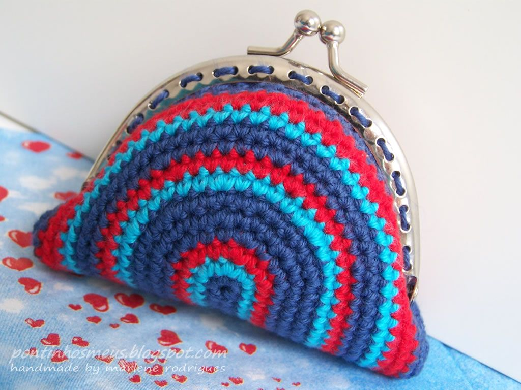 pontinhos meus: Porta moedas -bolsos vintage | Crochet 4 | Pinterest ...