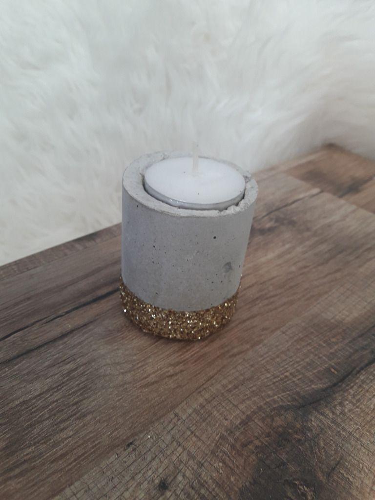 DIY: Bougeoirs béton version bling bling – LILI & CRAPS