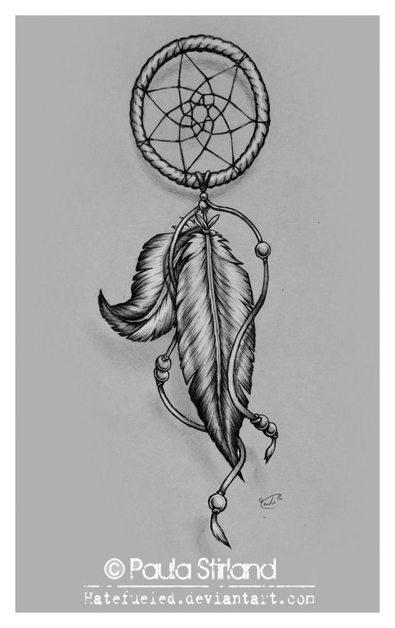 Simple Like This One But With The Other Feathers And Add 2 More Feathers Feather Tattoos Dream Catcher Tattoo Design Dream Catcher