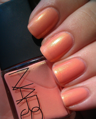Orgasm, a peachy pink with golden shimmer.