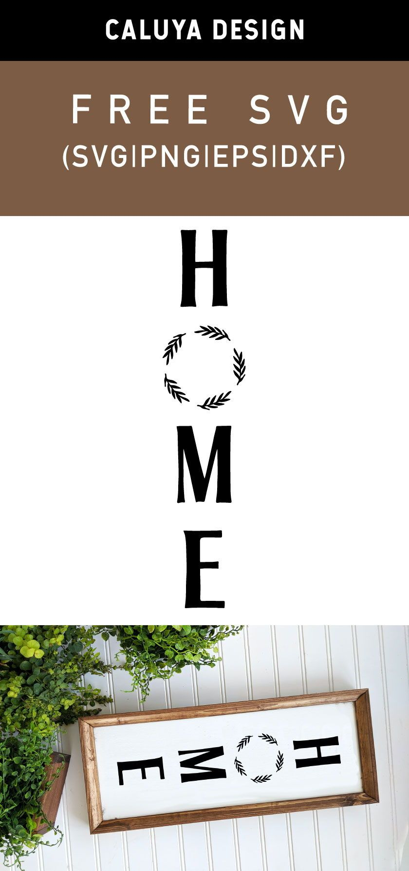 Free Home Vertical Sign SVG, PNG, EPS & DXF by Caluya Design